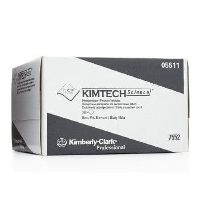 Kimberly-Clark™ Kimtech™ Science; Precision Wipes 7552, 1 ply white, Box of 280 wipes